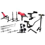 Magnus Design ® Bench with weight set Magnus Extreme MX-Z005 214 kg
