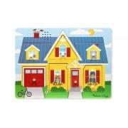 Puzzle cu sunete Casa mea, Melissa and Doug