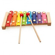 Motrent Wooden 8 Notes Xylophone - First Musical Instrument For Children Portable Music Toys
