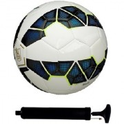 Kit of Premier League Blue Football (Size-5) with Air Pump & Needle