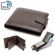 6 Card Holders Vintage Genuine Leather Coin Bag Business Purse Wallet For Men