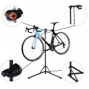 HOMCOM Suporte para Bicicleta Aço Preto 85x59x100-159 cm