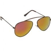 Arzonai Hartley MA-099-S1 Aviator Unisex Orange Sunglasses