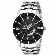 Espoir Analogue Stainless Steel Black Dial Day and Date Boy's and Men's Watch - BahuHammer New