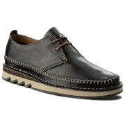 Обувки CLARKS - Fallton Edge 261271797 Black Leather