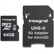 64GB MSDXC UHS-II U3 C10 V60 + Adaptor Integral