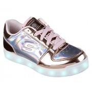 Skechers 10947L Zapatillas de Deporte para Niñas, Color Roso/Oro, 20