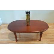 Masa ovala de sufragerie LUIS XVI nuc - miniaturi papusi/colectionari