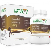 Naturyz Korean Red Ginseng -1000mg per serving - 60 Capsules (30 servings) for more energy and less stress