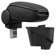 [pro.tec]® Lakťová opierka pre Citroën DS3 - lakťová opierka - s odkladacím priestorom - koženka - čierna