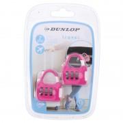 Dunlop 2x Roze reistassen bagagesloten met cijferslot