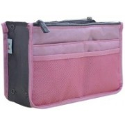 Lemish Mini Women Cosmetic Makeup Bags Organizer Storage Bag Pouch Holder-Light pink Travel Toiletry Kit(Pink)