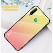 Husa Huawei P40 Lite E / Huawei Y7p - Gradient Glass, Galben cu Roz