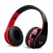 Casti bluetooth Usmart 8252 Wireless izolare zgomot control Apeluri si card TF-black red
