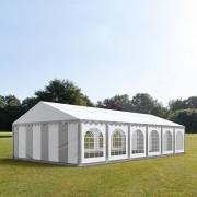 tendapro.it Tendone 6x12m PVC bianco-grigio Gazebo per Feste e Giardino
