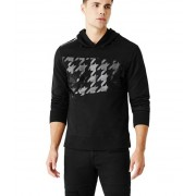 GUESS Pablo Houndstooth Hoodie jet black