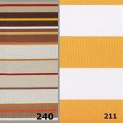 FIUME, 200 cm széles, csíkos, készleten lévő, UV álló, impregnált kültéri vászon