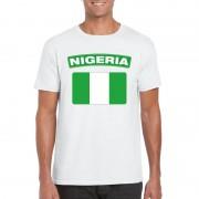 Bellatio Decorations Nigeriaanse vlag shirt wit heren
