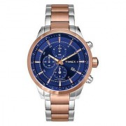 Timex Chronograph Blue Round Watch -TW000Y415