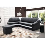 Expedo + Canapea pe colț PETER, 250x85x180, soft011black/soft017white, stânga