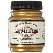 1-Pack , True-Gold : Jacquard Lumiere Metallic Acrylic Paint 2.25 Ounces-True Gold