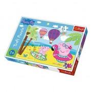 Puzzle pentru copii, model peppa maxi air balloon, 24 piese