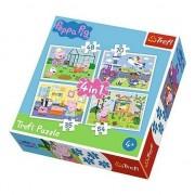 Puzzle Trefl - Peppa Pig, 35/48/54/70 piese (34316)