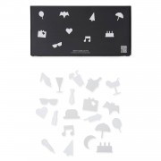Party Icons till Anslagstavla 20-pack, White