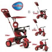 Tricikl za decu sa ručkom za guranje 4 u 1 Smart Trike Vanilla Red