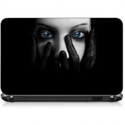 VI Collections GIRL FACE IN WHITE pvc Laptop Decal 15.6