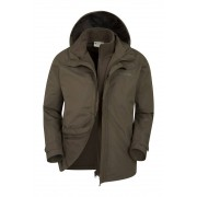 Mountain Warehouse Fell Mens 3 in 1 Water Resistant Jacket - Green