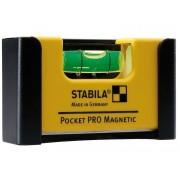 STABILA Poziomnica kieszonkowa wzmocniona z klipsem Pocket PRO Magnetic