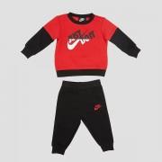 NIKE Split crew joggingpak zwart/rood kinderen
