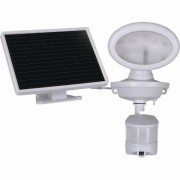 Maxsa Innovations Motion-Activated Solar Security Video Camera with Spotlight, Model 44643-CAM-WH, White