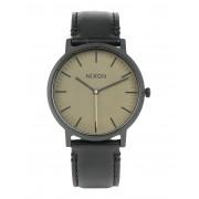 ユニセックス NIXON Porter Leather 腕時計 ミリタリーグリーン