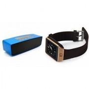 Zemini DZ09 Smartwatch and Box-2 Bluetooth Speaker for LG OPTIMUS G PRO(DZ09 Smart Watch With 4G Sim Card Memory Card| Box-2 Bluetooth Speaker Mini Sound Link Speaker)