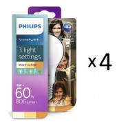 Philips LED SceneSwitch E27 60W 4st