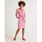 Boden Pink, Getupftes Paisley-Muster Kelsey Leinentunika Damen Boden, 48 L, Pink