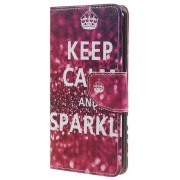 Bolsa tipo Carteira Style Series para OnePlus 5 - Keep Calm and Sparkle