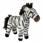 Geen Afrikaanse dieren knuffels zebra bruin 28 cm