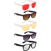 NuVew Wayfarer Sunglasses(Silver, Brown, Violet, Red, Yellow)