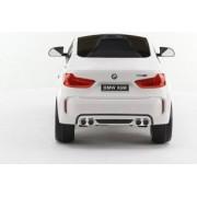 Masinuta electrica pentru copii BMW X6 M cu licenta originala un loc roti EVA telecomanda 2.4 Ghz alb