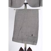 Mens Next Slim Fit Check Wool Blend Suit: Trouser - Grey Trousers