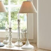 LOBERON Tafellamp Swindon / antiekwit/beige