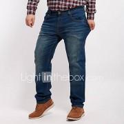 Eenvoudig-Katoen / Polyester-Micro-elastisch-Jeans-Broek-Vrouwen