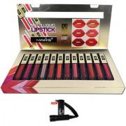 Mars Matte Liquid Lipstick C-Shade 24Hr Lasting With Free LaPerla kajal