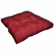 Възглавница за стол 80 х 80 х 10 см, винено червена тапицерия