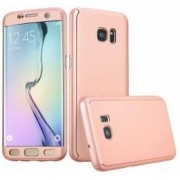 Husa Samsung Galaxy S6 Edge FullBody Elegance Luxury Rose-Gold acoperire completa 360 grade cu folie de protectie gratis