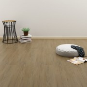 vidaXL Самозалепващи подови дъски 4,46 м² 3 мм PVC естествено кафяви