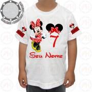 Camiseta Minnie Mouse Vermelho